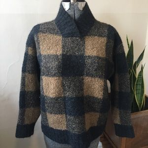 VINTAGE buffalo plaid sweater
